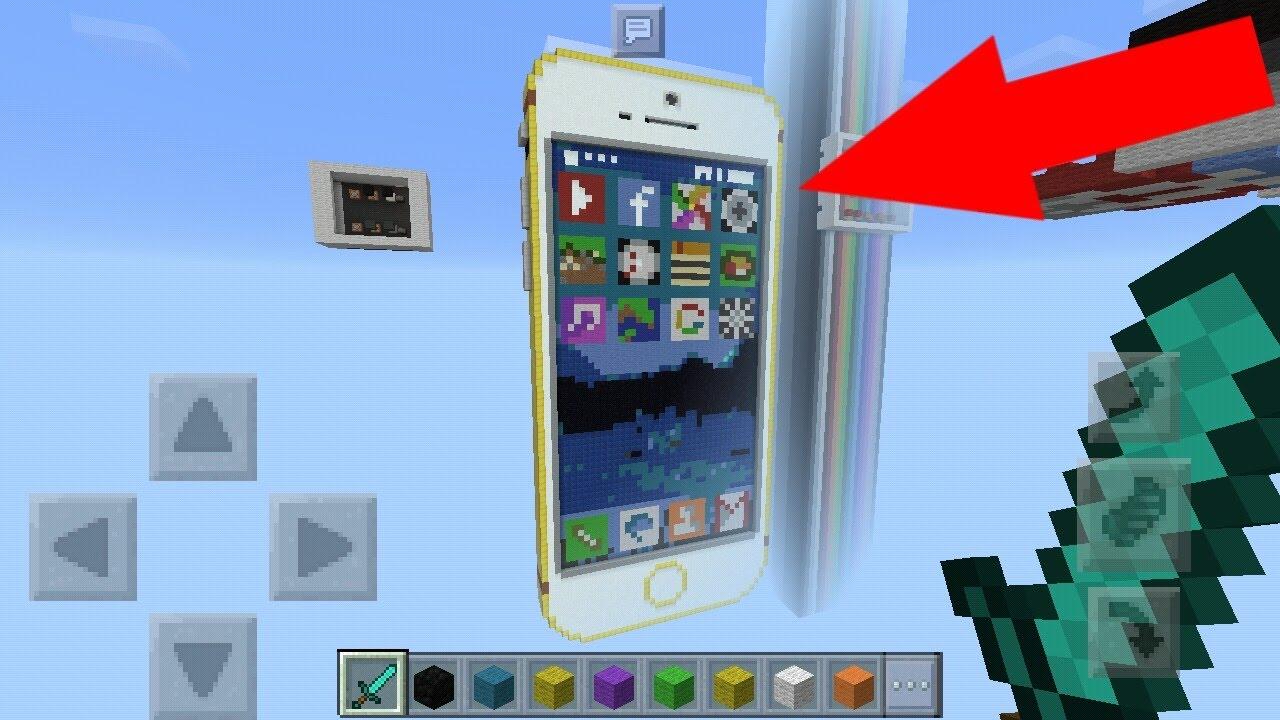 механизм телефон iphone работающий в майнкрафте #5