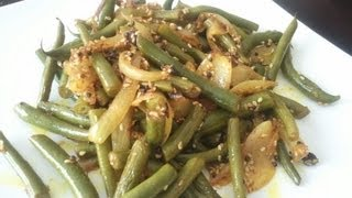 Masala Green Beans Recipe - Healthy Indian Food