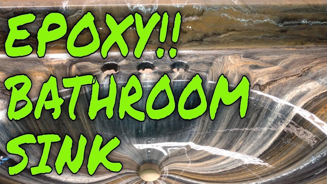 STEP BY STEP EPOXY BATHROOM SINK.   I show you how I epoxy my bathroom sinks.
