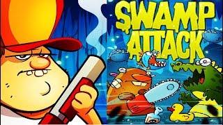 БОЛОТНАЯ Атака ОБНОВЛЕНИЕ новое Оружие Мультик Игра для детей Swamp Attack #Мобильные игры
