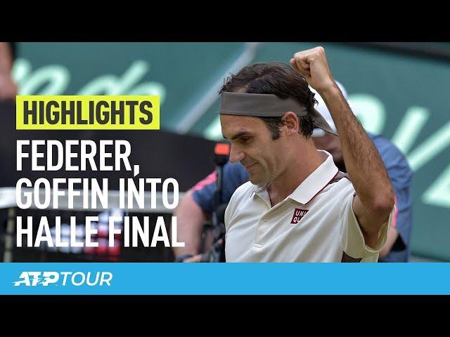 Federer & Goffin To Battle For Halle Title | HIGHLIGHTS | ATP