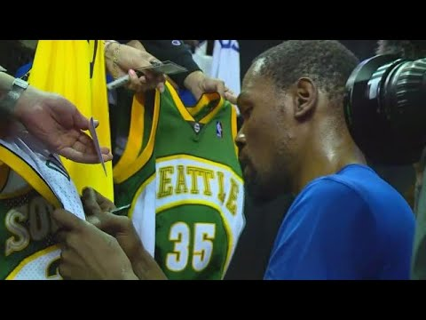 Kevin Durant returns to Seattle for NBA exhibition game at KeyArena
