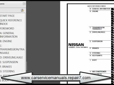 nissan urvan 2002 2006 e25 service manual and repair car service rh youtube com Nissan D21 Dash Wire Diagram nissan urvan wiring diagram pdf