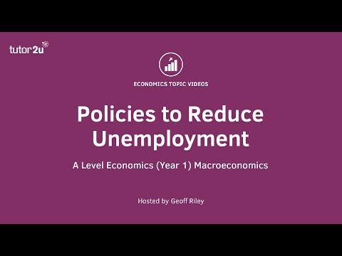 Policies to Reduce Unemployment