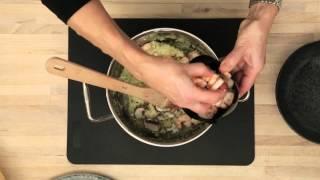 Opskrift til fase 2 i Dukan Kuren: Blomkålsrisotto med svampe og rejer