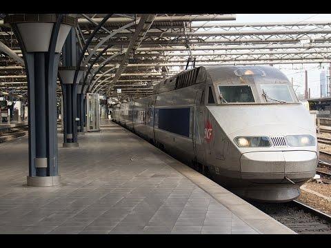 TGV 4519 vertrekt uit Station Brussel-Zuid