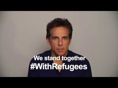 Ben Stiller stands #WithRefugees
