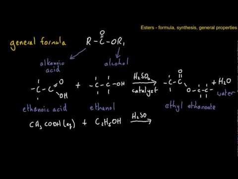 Esters - General Formula, Synthesis, properties and uses