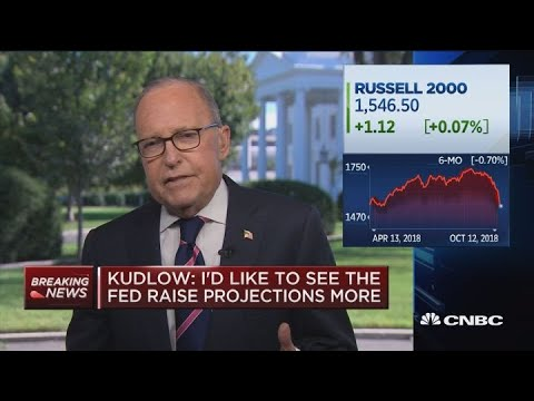 Larry Kudlow says we're in a booming economy, believes sell-off was a correction