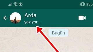 Whatsapp Yazıyor Özelliğini Gizleme ve  Son Görülme Sabitleme