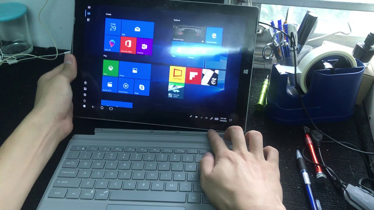 Surface không nhận bàn phím