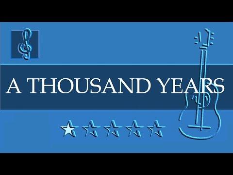 Acoustic Guitar TAB - A Thousand Years - Christina Perri (Sheet music)