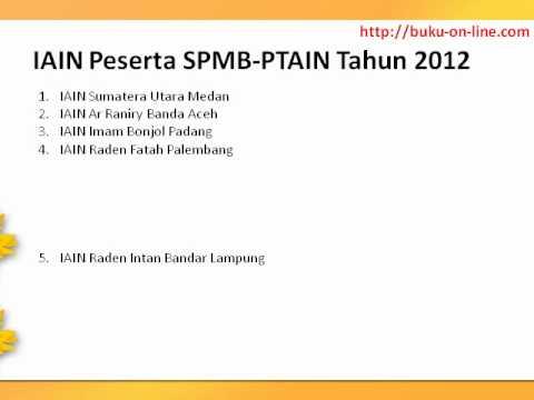 IAIN Peserta SPMB PTAIN Tahun 2012