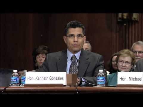Martin Heinrich and Tom Udall introduce U.S. District Court nominee Kenneth J. Gonzales