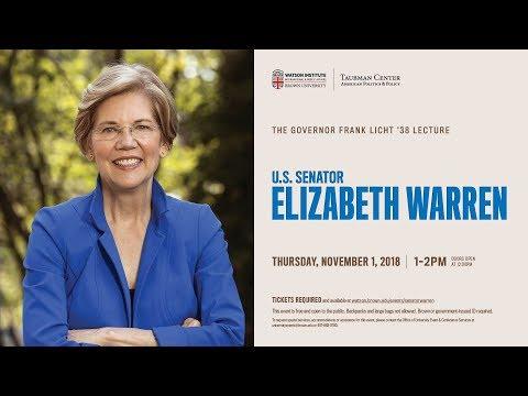 Senator Elizabeth Warren ─ Government For The Few