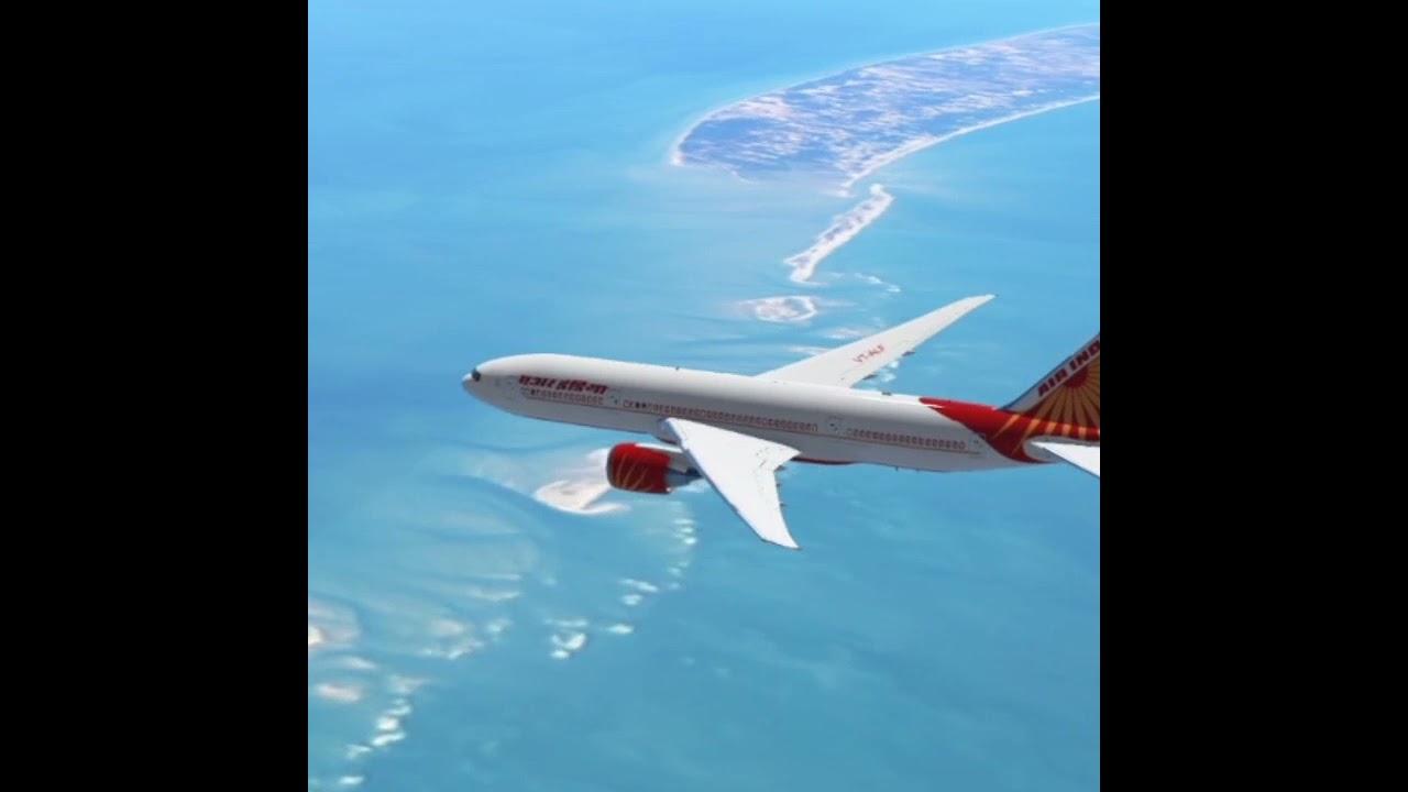 View Of Ram Setu From Flight | Gaming | Infinite Flight | GTA 5 | Grand Theft Auto V | Jahaj #shorts