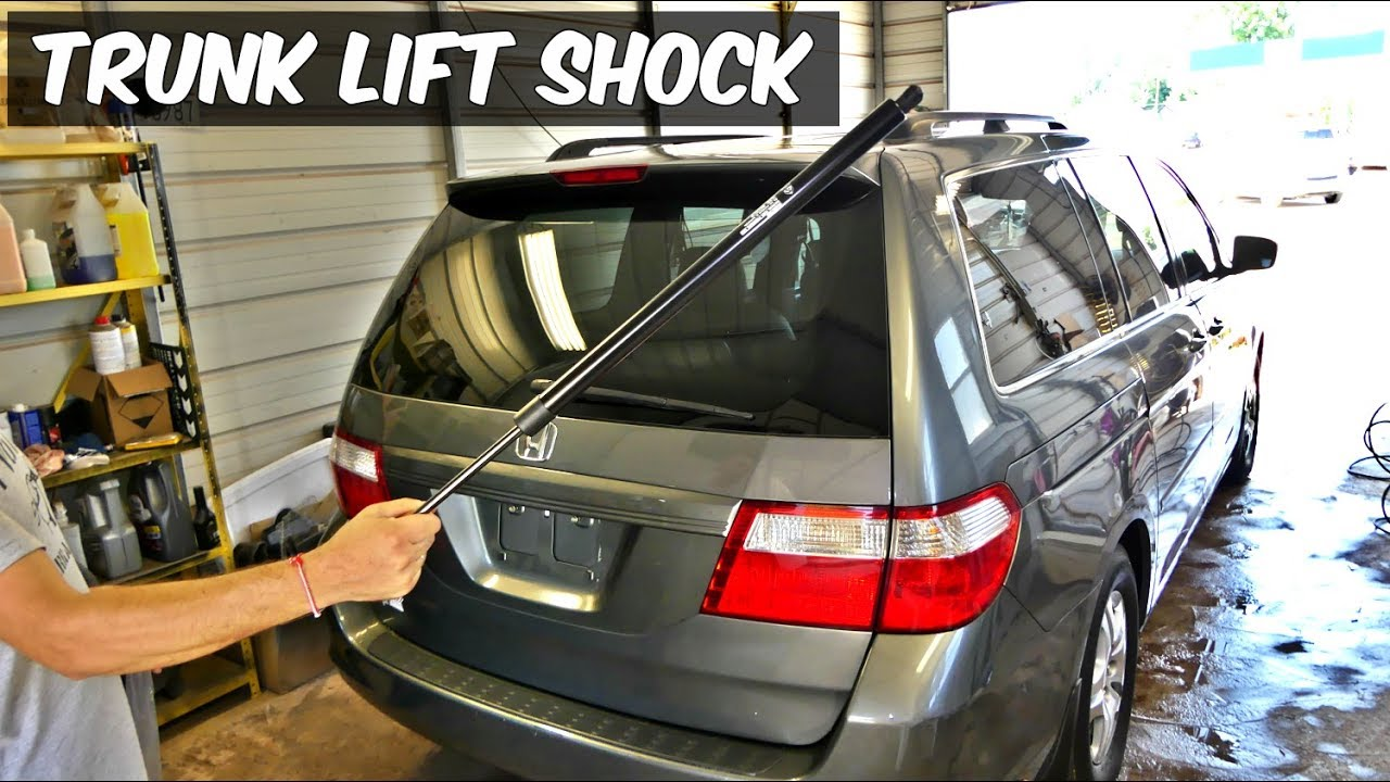 HONDA ODYSSEY TAIL GATE STRUTS SHOCKS SUPPORT REPLACEMENT REMOVAL