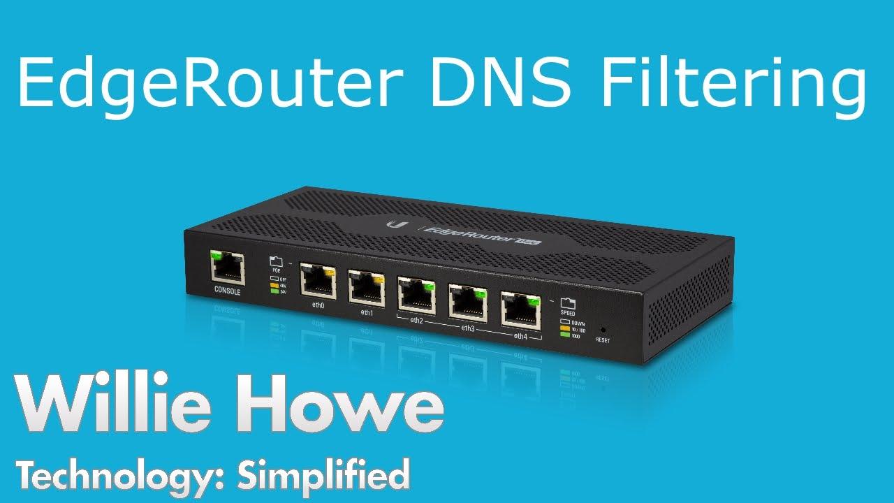 DNS Filtering - Ubiquiti Networks EdgeRouter Configuration
