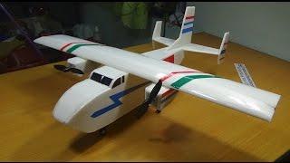 Cara membuat Pesawat RC The Twins   Cargo Pesawat