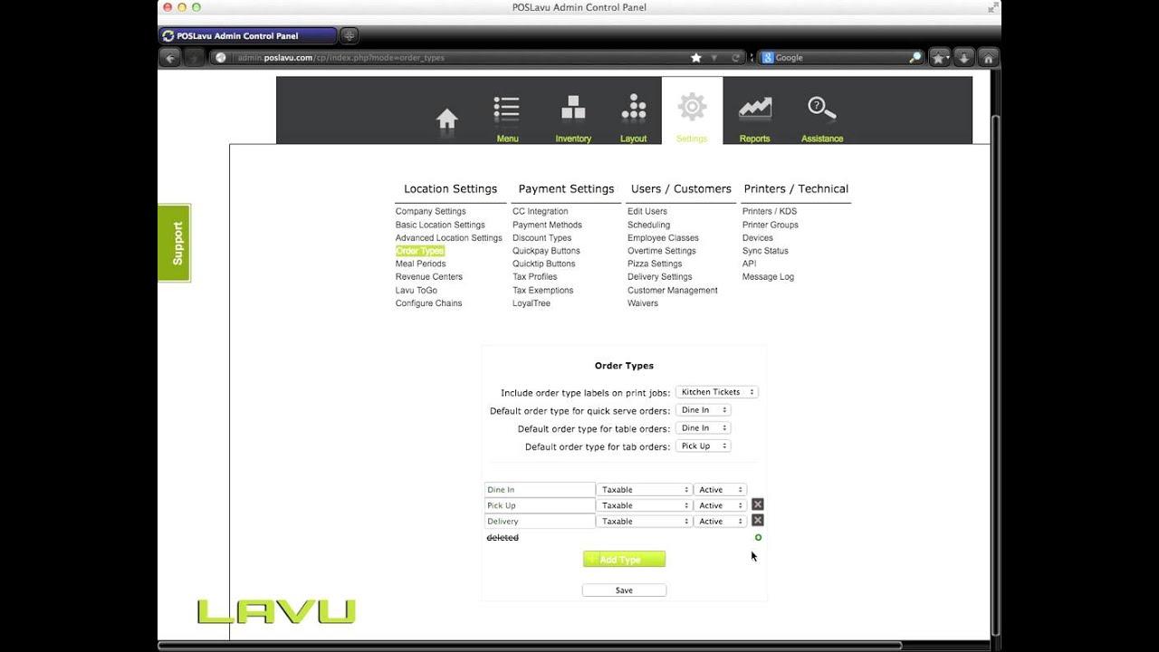 Download Lavu POS Order Types