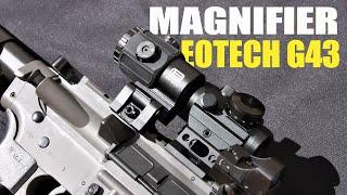 UNBOXING E REVIEW RÉPLICA MAGNIFIER EOTECH G43!!!| ALIEXPRESS | CROSMAN DPMS SBR