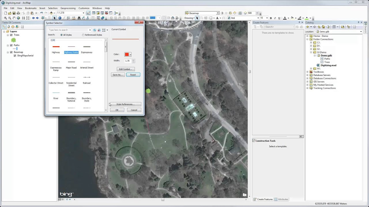 Digitizing in ArcMap on advertising maps, organizing maps, painting maps, digimon world 4 maps, surveying maps,