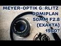 【レンズレビュー】MEYER-OPTIK DOMIPLAN 50mm F2.8(EXAKTAマウント)+SONY α7Ⅱ【フルサイズ対応】