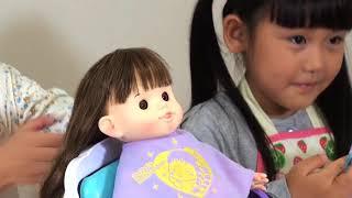 ぽぽちゃんママの1日 ~かわいくしてね♡おしゃべりヘアサロン編~ おしゃべり ヘアサロン 新商品 おもちゃ popochan