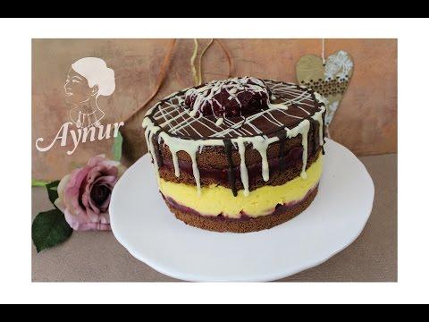 Einfache Kirsch Vanille Torte Rezept I Torte Einfach Vorbereitet I Visneli Vanilyali Yas Pasta