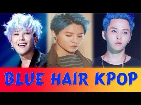 Who rocks blue hair?   KPOP Boy group thumbnail