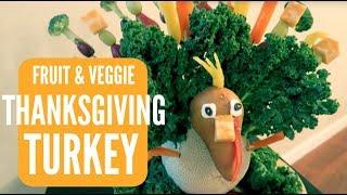 DIY FRUIT & VEGGIE THANKSGIVING TURKEY  Somers In Alaska Vlogs