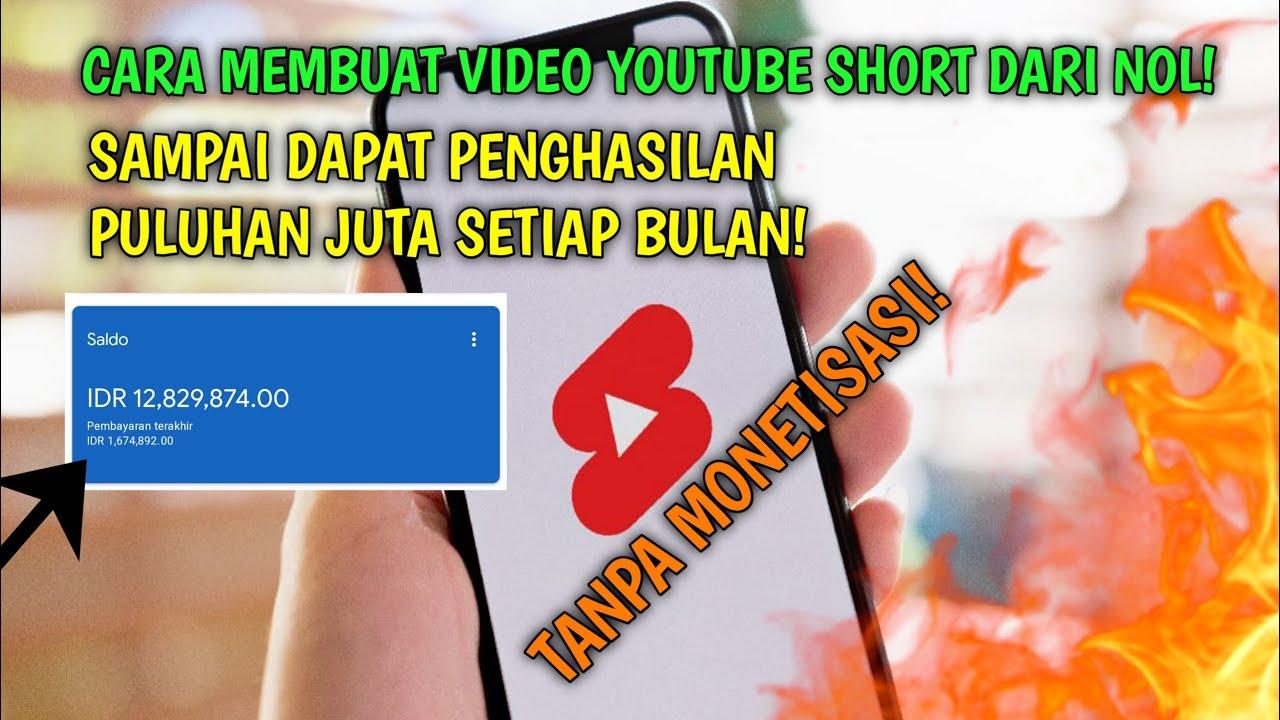 Cara Membuat Youtube Short Dari NOL Sampai Dapat UANG Tiap Bulan