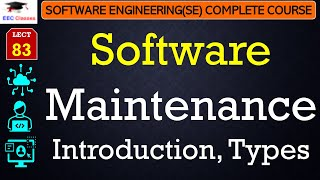 Maintenance Introduction and Types - Software Engineering Lectures Hindi English