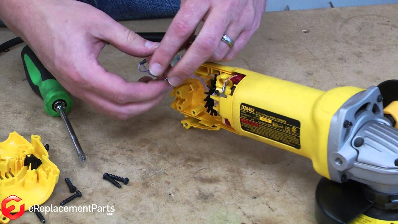 How To Replace The Switch In A Dewalt D28402 Grinder A
