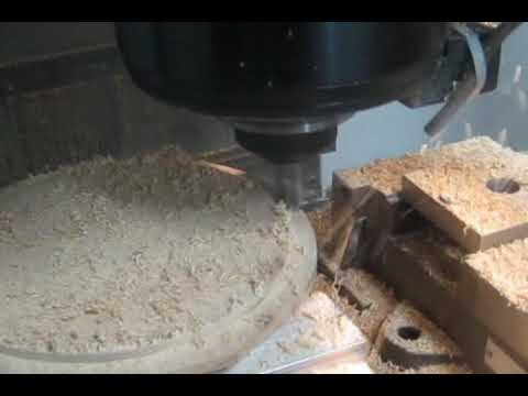 CNC milling wood at 10,000 RPM