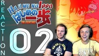 SOS Bros React - Hajime No Ippo Season 1 Episode 2 - Ippo's Ten Leaf Jabs!!