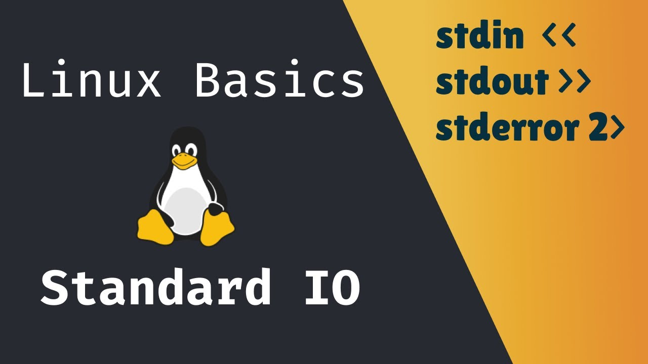 Linux Basics: How to use Linux Standard Input and Output