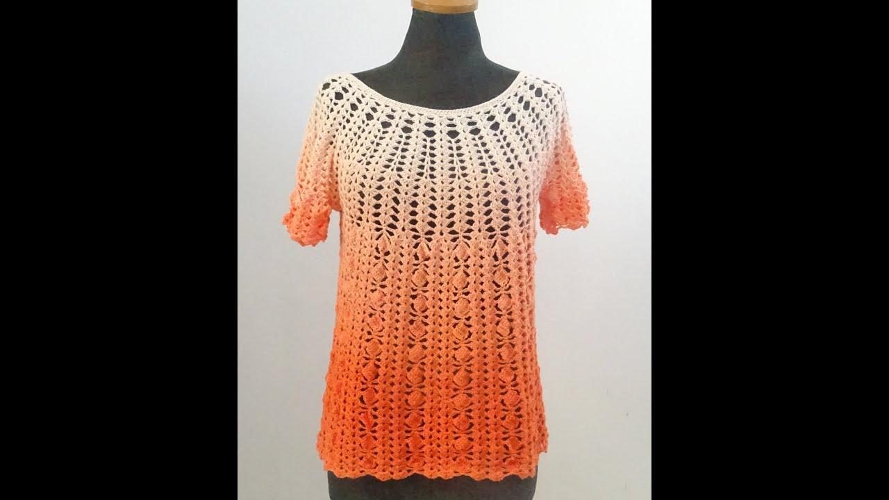Καλοκαιρινο Μπλουζακι -Τουνικ -Φορεμα  με βελονακι Top Down Μεγεθος S/M