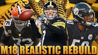Ryan Shazier Holding Out!  Realistic Rebuilding of The Pittsburgh Steelers | Madden 18 Franchise 2017 Video