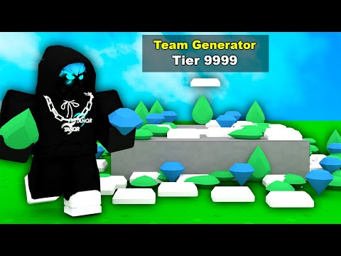 I secretly HACKED the generator in Roblox Bedwars..