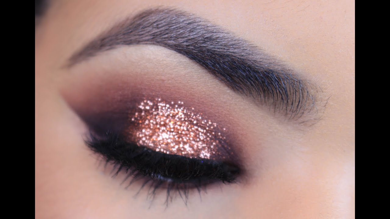 Very best Rose Gold Glitter Makeup Tutorial - YouTube QZ91
