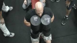 John Peshia - 200-lb dumbell press for 4 reps