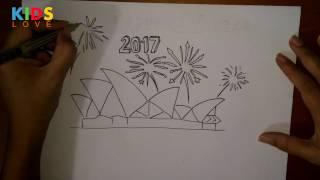วาดรูป พลุ ปีใหม่ ซิดนีย์ โอเปร่าเฮาส์ Drawing new year Countdown The Sydney Opera House