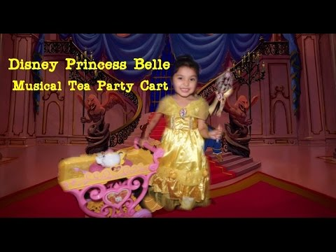 Disney Princess Belle Musical Tea Party Cart- Gigi Invites You To Be Her Guest