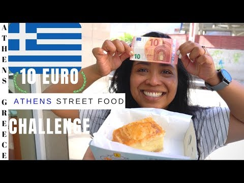 10 EURO GREEK STREET FOOD Tour In ATHENS: Where To Eat In Athens Greece