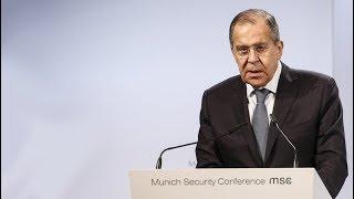 С.Лавров на Мюнхенской конференции 2018