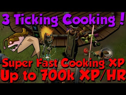 700k Cooking XP/HR - 3 Tick! [Runescape 3] Fast & Easy Method To Train Cooking