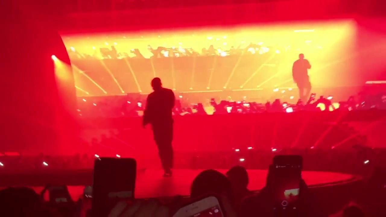 e67eacb9db8c Travis Scott FALLS Through Stage At Drake's Concert - YouTube