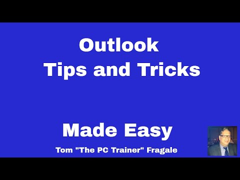 outlook tips and tricks -How to be more productive in Microsoft Outlook-video tutorial for beginners thumbnail