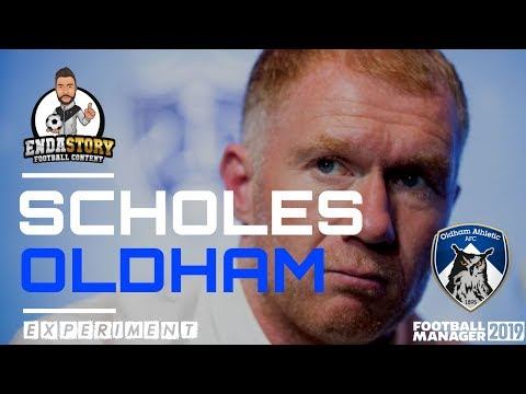 Paul Scholes Oldham manager - Football Manager Experiment
